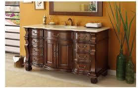 bathroom vanity 60 inch: adelina  inch antique style bathroom vanity cream marble top