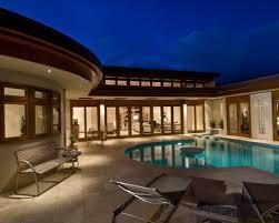 U Shaped House Pool Design Ideas  Remodels  amp  Photos   u shaped house Pool Design Photos