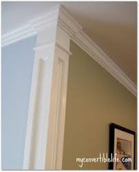 white kitchen windowed partition wall: build a faux column at corners to separate wall colors