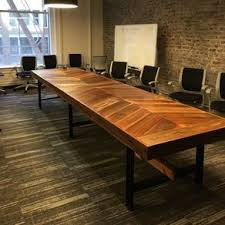 reclaimed wood chevron conference table by brenda dronkers awesome custom reclaimed wood office desk