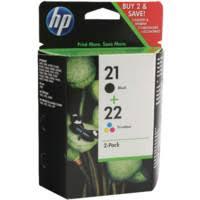 <b>Hewlett Packard SD367AE 21</b>/<b>22</b> INKJET CARTRIDGE KCMY (PK-2 ...