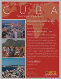 study abroad virginia commonwealth university activist scholars in global spaces flier