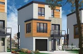 Story House Plans w garage from DrummondHousePlans comElia Contemporary floor house design for narrow lot  affordable urban design  open concept