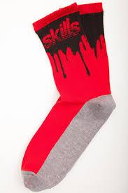 <b>Носки SKILLS Нефть</b> (Красный (Красный-Черный) - купить по ...