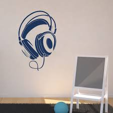 Small Picture Aliexpresscom Buy DCTOP Music DJ Headphones Wall Stickers Boys