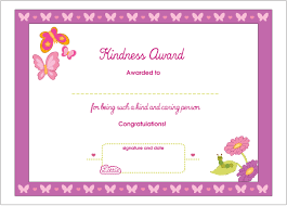 kindness printable award certificate dolls kindness printable award certificate