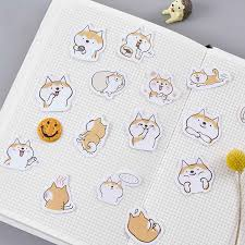 <b>45PCS</b>/<b>PACK</b> Kawaii <b>Cute Dog</b> Shiba Inu Sticker Marker Planner ...