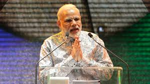 narenda modi s africa wants nuclear support from epa05415874 n prime minister narendra modi addresses thousands of people at the ticketpro dome in johannesburg