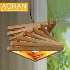 creative design light spiral wood pendant light wood dinning hall hanging lamps wooden rustic lighting fixture cheap rustic lighting