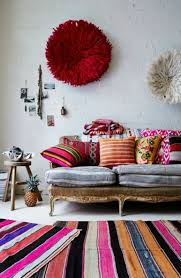 shabby chic furniture boho style antique couch striped carpet runners chronicly ethnic pattern boho style furniture