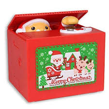 Samapet Stealing Coin Santa Claus Box, Piggy Bank Merry ...