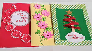 3 Easy Handmade Greetings Card For New year and Christmas ...