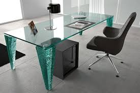 awesome geo glass modern designer small clear bent glass desk office intended for office glass table amazing fiam luminare small office glass table cm amazing glass office desks