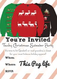 tacky christmas sweater party invitations printable this tacky christmas sweater party invitations printable