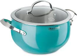 "Кастрюля <b>Rondell</b> ""Turquoise"", с крышкой, цвет: бирюзовый, 5,8 л ..."