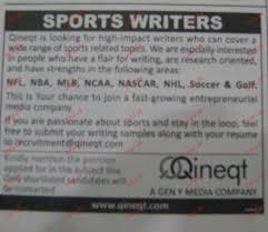 sports writers job opportunity jobs pk sports writers job opportunity