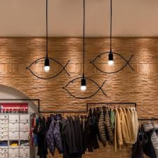 modern design led home lighting single3 heads fish shape dinning hanging lamp creative led cheap home lighting
