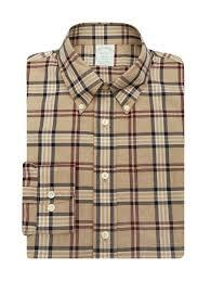 Brooks Brothers клетка <b>рубашка из хлопка с</b> узором 'клетка ...