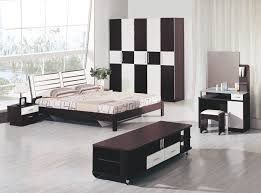 incredible bedroom decorating ideas with black white wooden wardrobe and dark brown varnishes wooden bed frame plus cool small nightstand as well as cabinet bedroomcool black white bedroom design