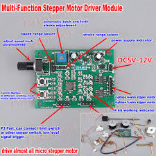 <b>DC 5V</b>-<b>12V 2</b>-<b>phase</b> 5 4-wire Micro Stepper Motor Driver Speed ...