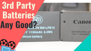 <b>Canon LP-E12</b> Battery vs 3rd Party Battery for Canon M50 - YouTube
