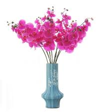 indigo 5pcs black bird of paradise orchids bouquet real touch wedding flower artificial floral event party free shipping
