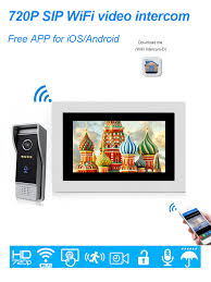 <b>HomeEye</b> 7'' <b>720P WiFi</b> IP Video Door Phone Video Intercom Home ...