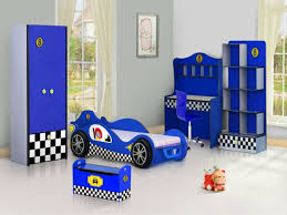 contemporary bue and white bedroom interior design cars set incredible boys exciting with car racing theme home decor charming bedroom ideas red