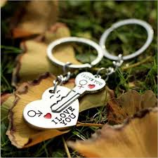 1 Pair Lovers Key to My <b>Heart</b> Keychain <b>Valentine's</b> Day Wedding ...