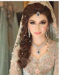 stani bridal look i like the pearls in the hair