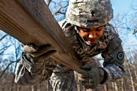 u s department of defense photo essay demetrius walton navigates a climbing obstacle on the confidence course on fort dix