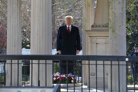 andrew jackson faith and history president trump pauses after laying a wreath at the hermitage the home of president andrew jackson evan vucci associated press