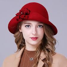 <b>2016 Winter New</b> 100% Wool <b>Women</b> Felt Hats Ladies Vintage ...