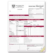 detailed roofing proposal forms 6566 at print ez detailed roofing proposal forms