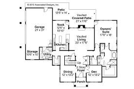 Traditional House Plans   Fairbanks     Associated DesignsTraditional House Plan   Fairbanks     st Floor Plan
