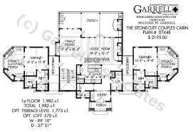 Stonecliff Couples Cabins   House Plans by Garrell Associates  Inc stonecliff couples cabins house plan   st floor plan