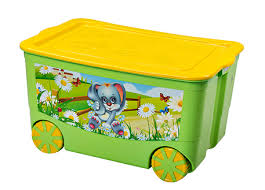 """<b>Ящик для игрушек</b> """"KidsBox"""" на колёсах Эльф-<b>пласт</b>"""