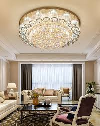 Luxury <b>Modern K9</b> Crystal Chandelier Flush Mount <b>LED</b> Ceiling ...
