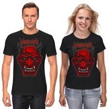 """<b>Парные футболки</b> c стильными принтами """"рок"""" - <b>Printio</b>"""