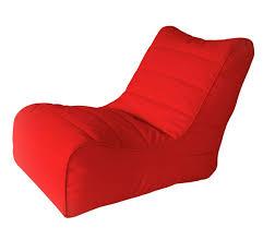 <b>Бескаркасное кресло</b>-лежак <b>Папа</b> Пуф Soft Lounger Red