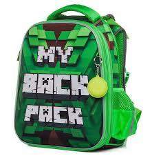 <b>Школьный ранец HATBER</b> Ergonomic Minecraft (Майнкрафт) Pixels