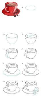 Как рисовать.<b>Кружка</b>,блюдце,кофе.   Уроки рисования, Как ...