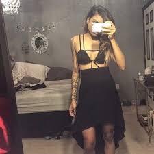 nasty gal y black dress