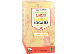 <b>Organic Ginger</b> Turmeric <b>Herbal Tea</b> - product in packaging