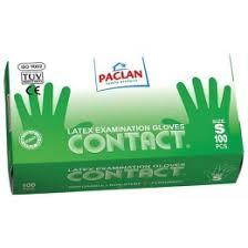 Paclan <b>перчатки contact</b> из <b>латекса</b>, размер s <b>100шт</b> купить в ...