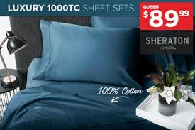 Sheraton Luxury 100% Cotton 1000TC <b>Sheet Sets</b> | Catch.com.au