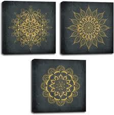 Vintage Flowers Pattern Canvas Prints Wall Art for ... - Amazon.com