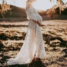 Maternity <b>Sexy V</b>-<b>neck Lace Halter</b> Irregular Dress – Acmami