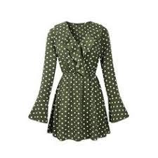 <b>GOPLUS</b> New Ruffles Chiffon Flare Sleeve Dress Female Party ...