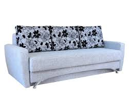<b>Диван еврокнижка Шарм-Дизайн Опера</b> 150 шенилл серый цветы